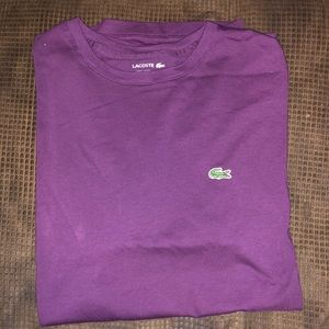 Lacoste Mens Purple T-Shirt Size L